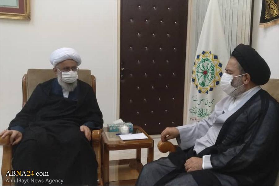 عکس خبری/ دیدار نماینده ولی فقیه در امور حج و زیارت با آیت الله رمضانی