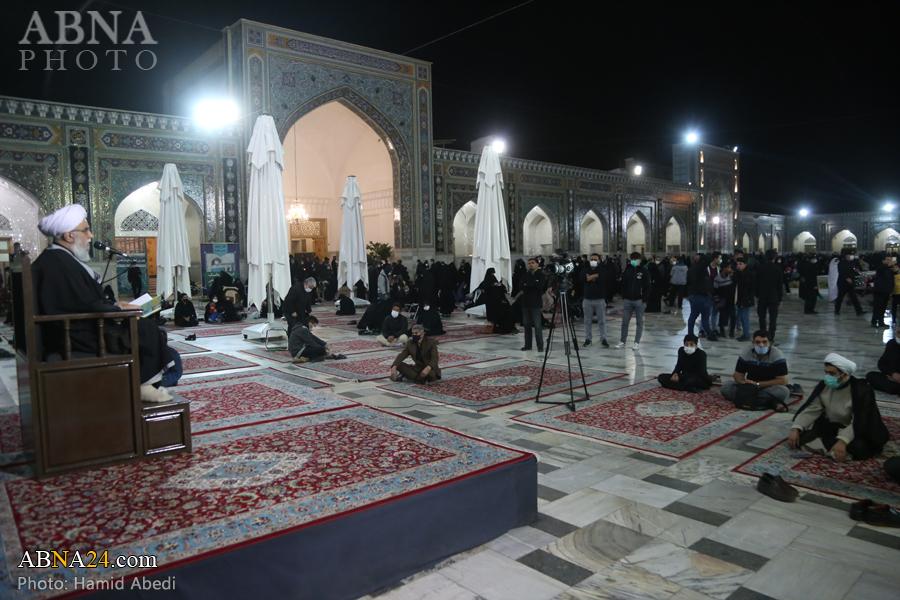 عکس خبری/ سخنرانی آیت الله رمضانی در جمع زائران حرم رضوی