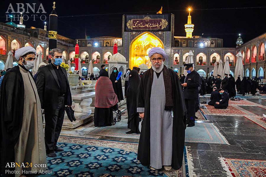 عکس خبری/ حضور آیت الله رمضانی در حرم امام رضا(ع)