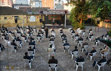 گزارش تصویری/ عزاداری صبح روز هفتم ماه محرم با سخنرانی آیتالله رمضانی