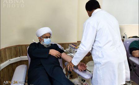 گزارش تصویری/ اهدای خون دبیر کل مجمع جهانی اهل بیت(ع) در رشت