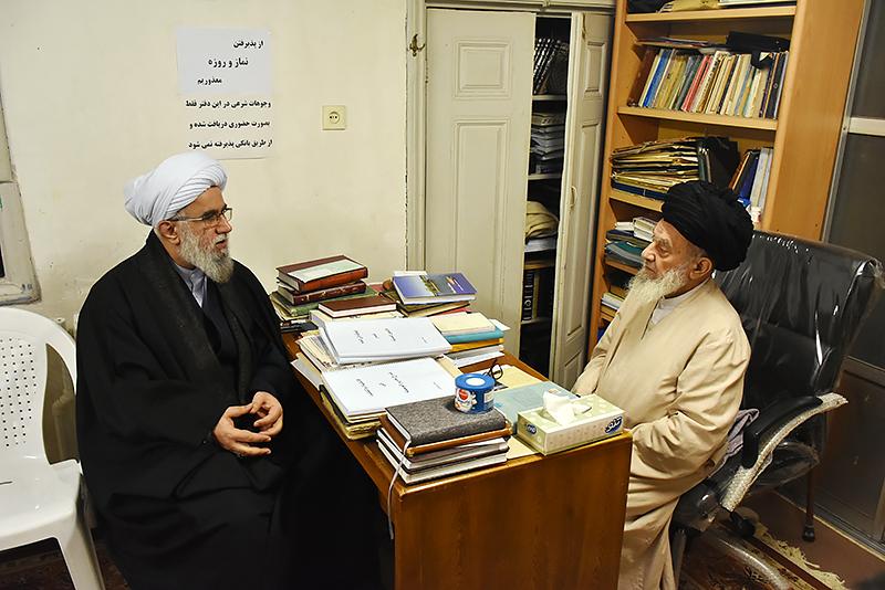 دیدار دبیرکل مجمع جهانی اهل بیت(ع) با آیتالله رودباری