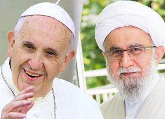 تقدیر و تشکر پاپ فرانسیس از رئیس اتحادیه اروپایی علماء و تئولوگ های شیعه