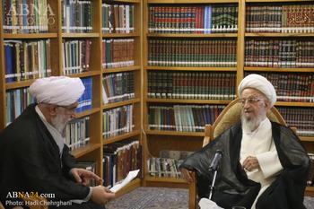دبیرکل مجمع جهانی اهل بیت(ع) از آیت الله مکارم شیرازی عیادت کرد