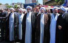 عکس/ حضور آیتالله رمضانی در راهپیمایی روز قدس